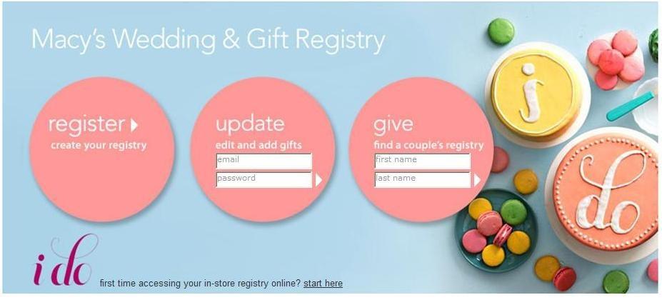 Macy S Gift Registry Wedding: Moving Success