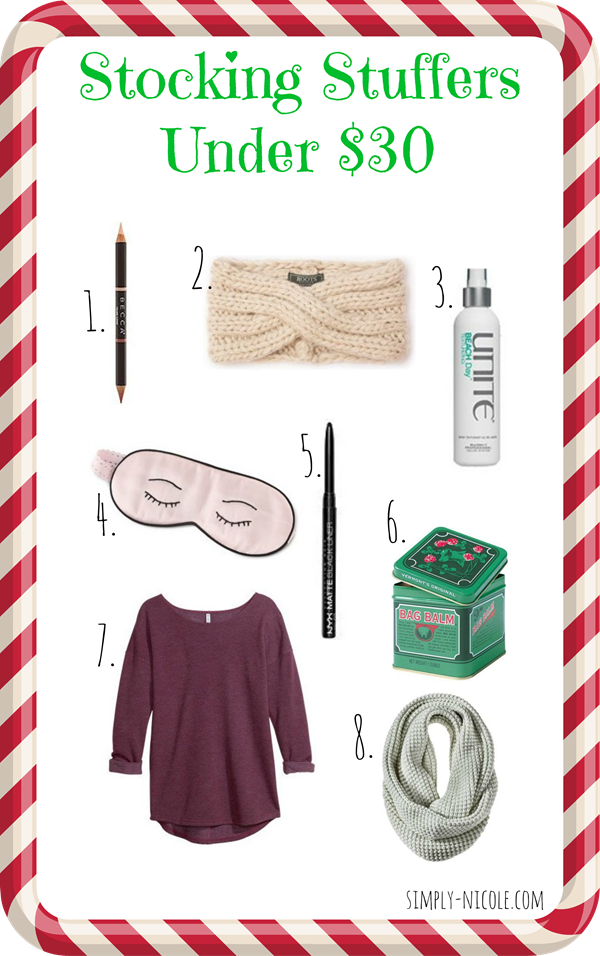 Stocking Stuffers Under $30 - via simply-nicole.com