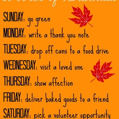 A Week of Gratitude