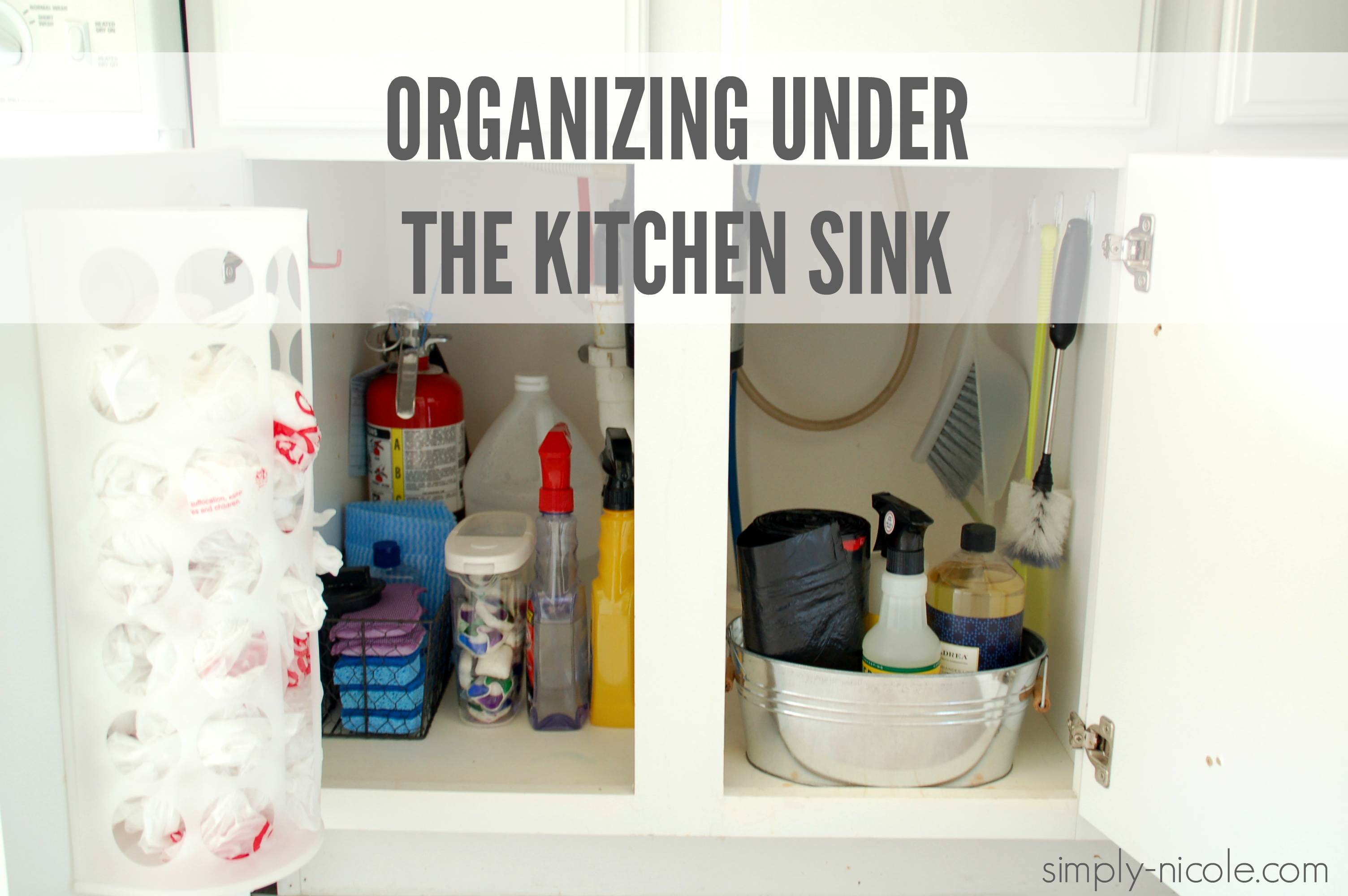 Organizing Under The Kitchen Sink Simply Nicole - Simply kitchen sinks