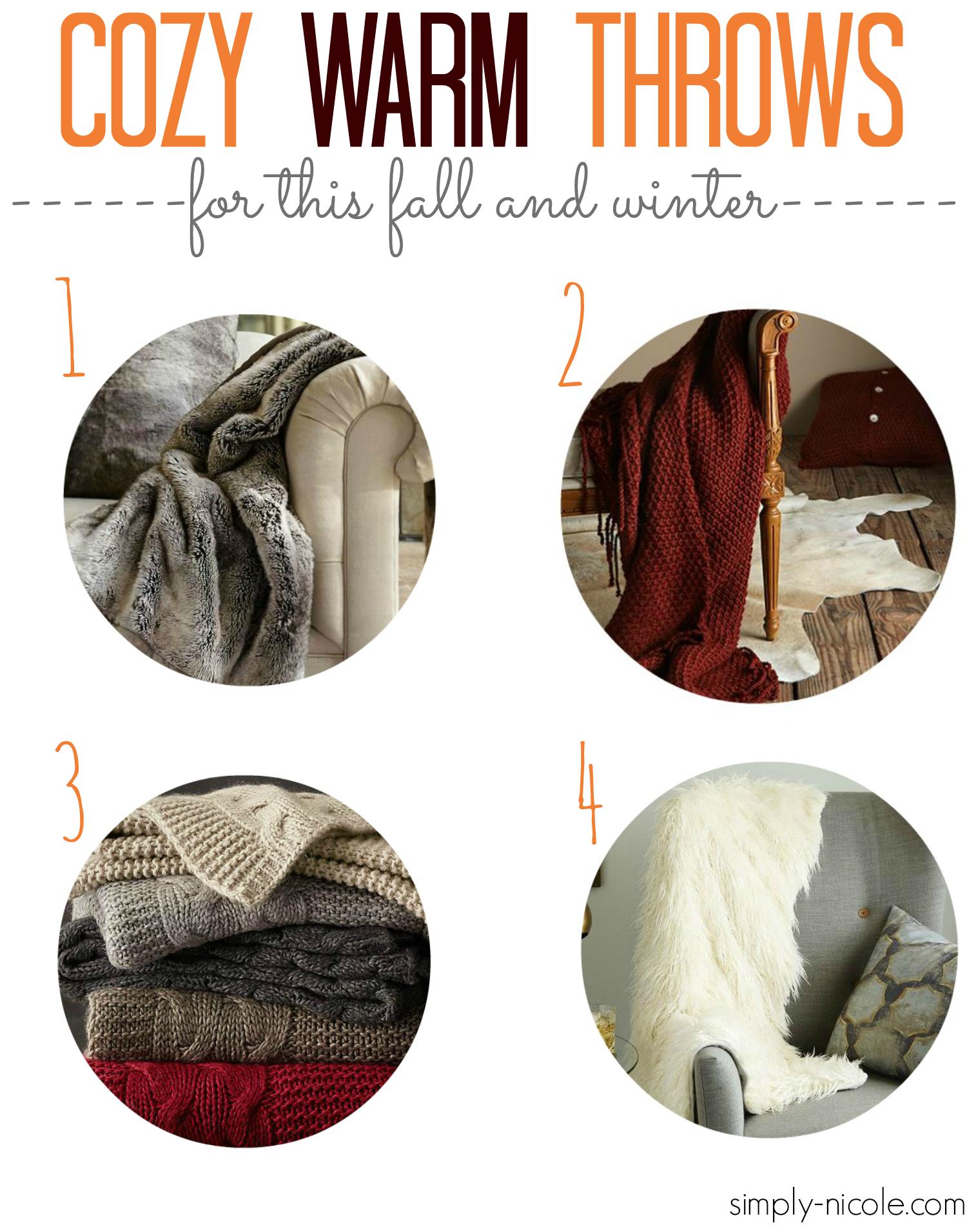 Cozy Warm Throws at Simply-nicole.com