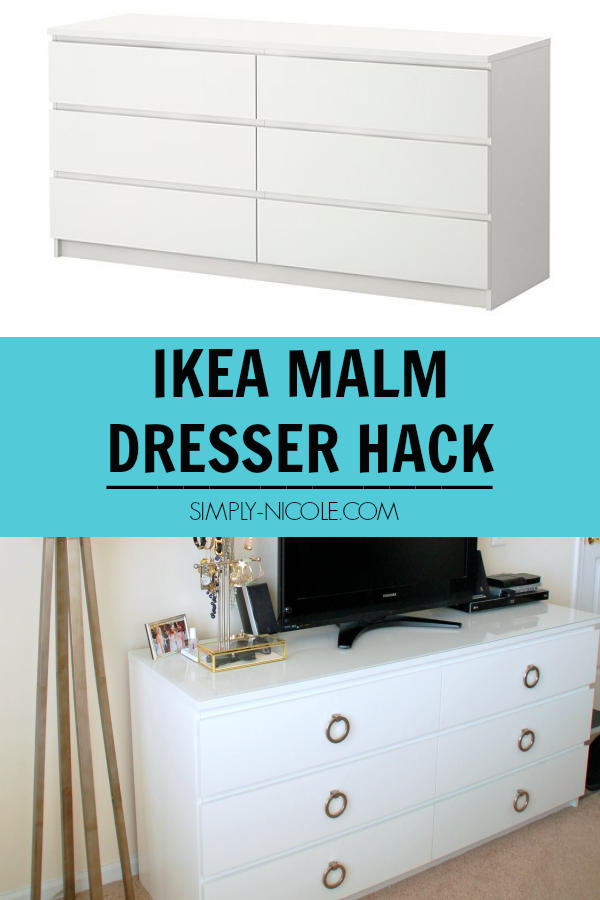 ikea malm dresser hack simply nicole. Black Bedroom Furniture Sets. Home Design Ideas