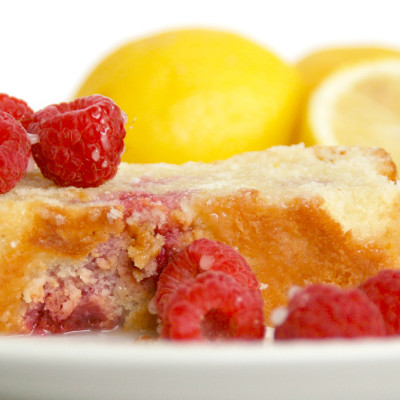 Scrumptious Raspberry Lemon Pound Cake