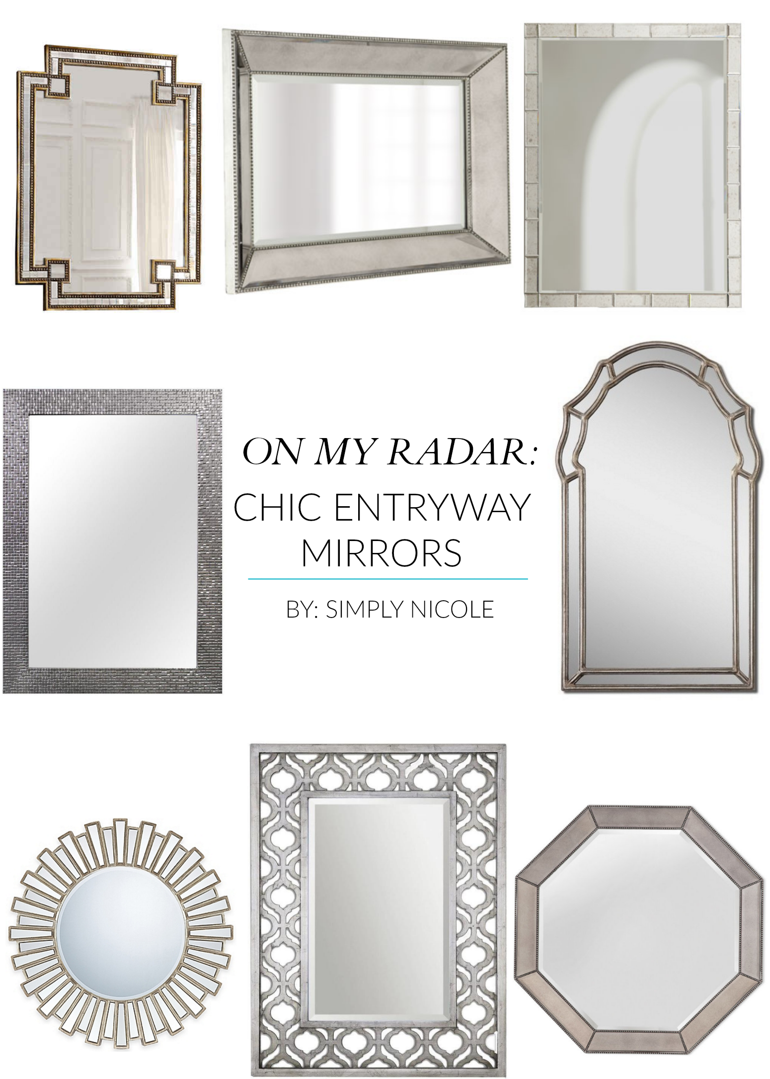 chic entryway mirrors