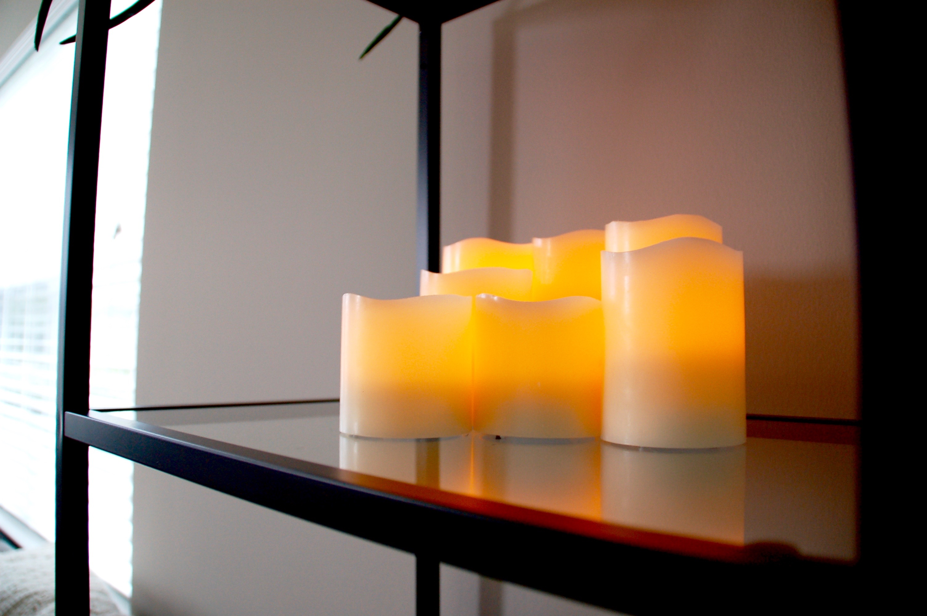 flameless candles decor
