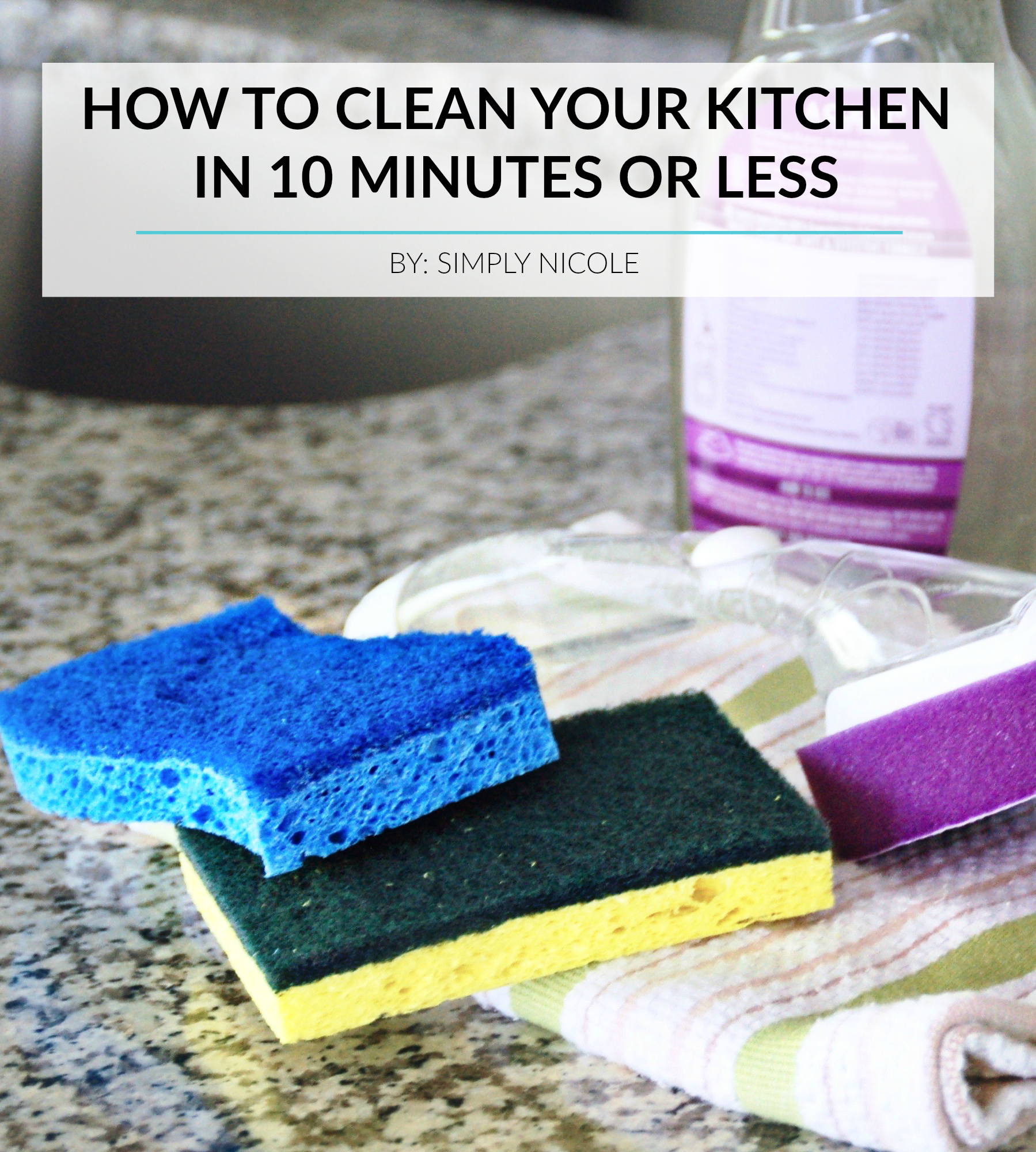 clean kitchen in 10 minutes or less