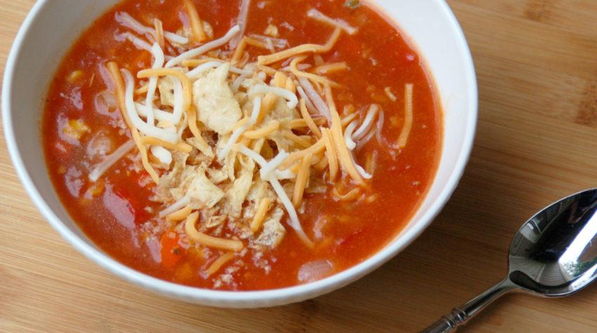 Spicy Vegetarian Tortilla Soup