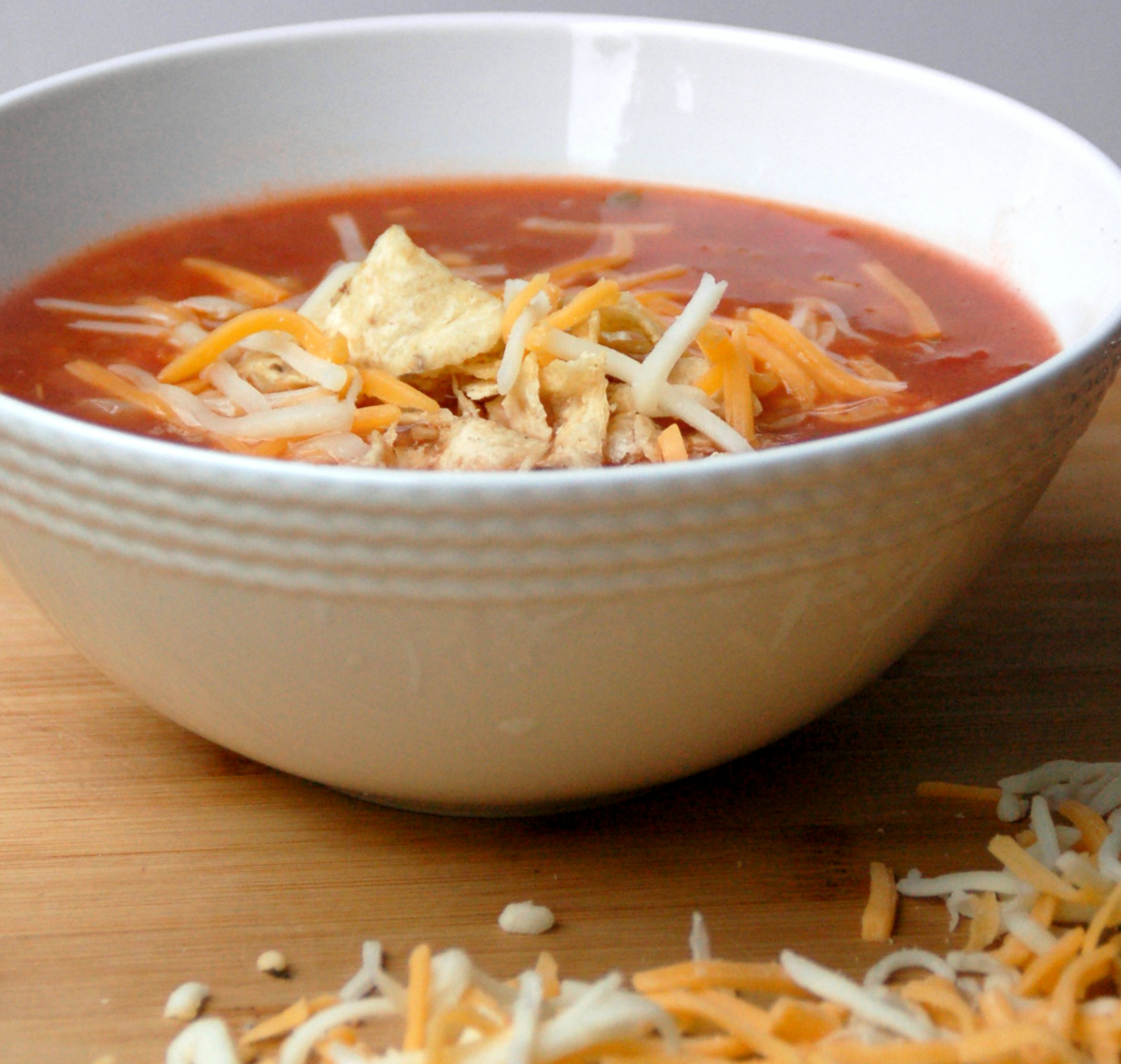 spicy vegetarian tortilla soup