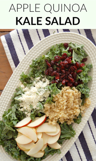Apple Quinoa Kale Salad with Homemade Lemon Dressing ...