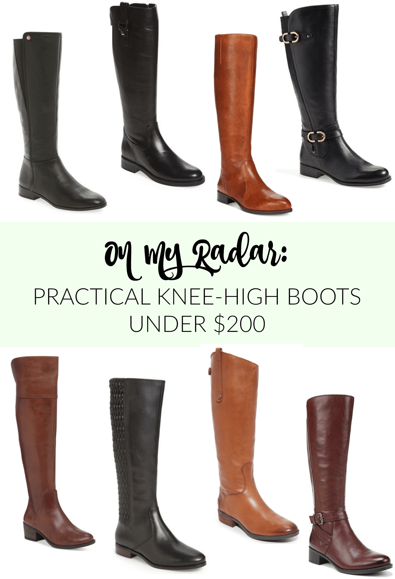 Practical Knee-High Boots Under $200