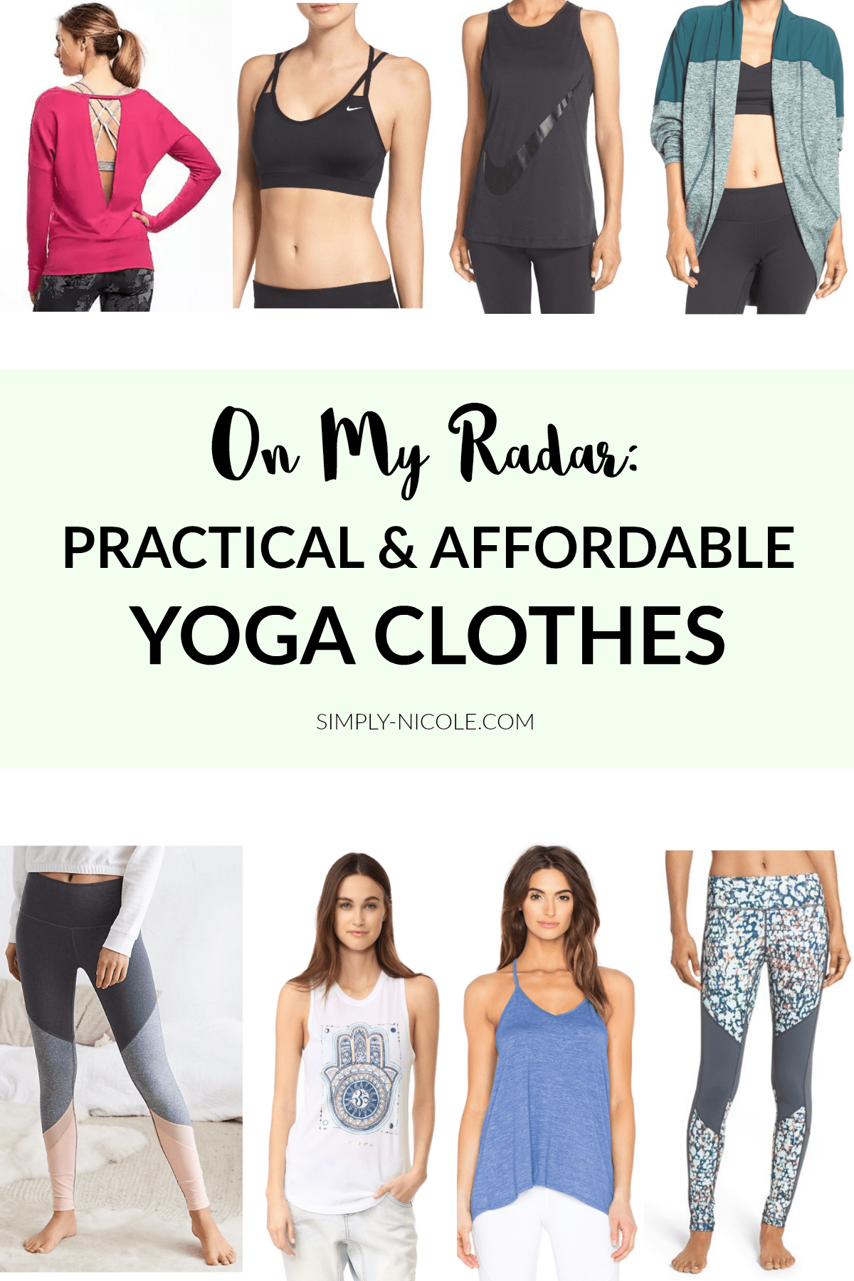 Practical and Affordable Yoga Clothes
