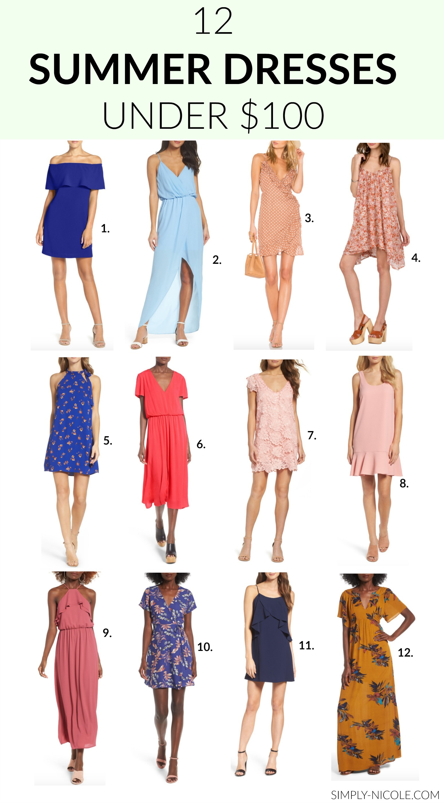 Affordable summer dresses