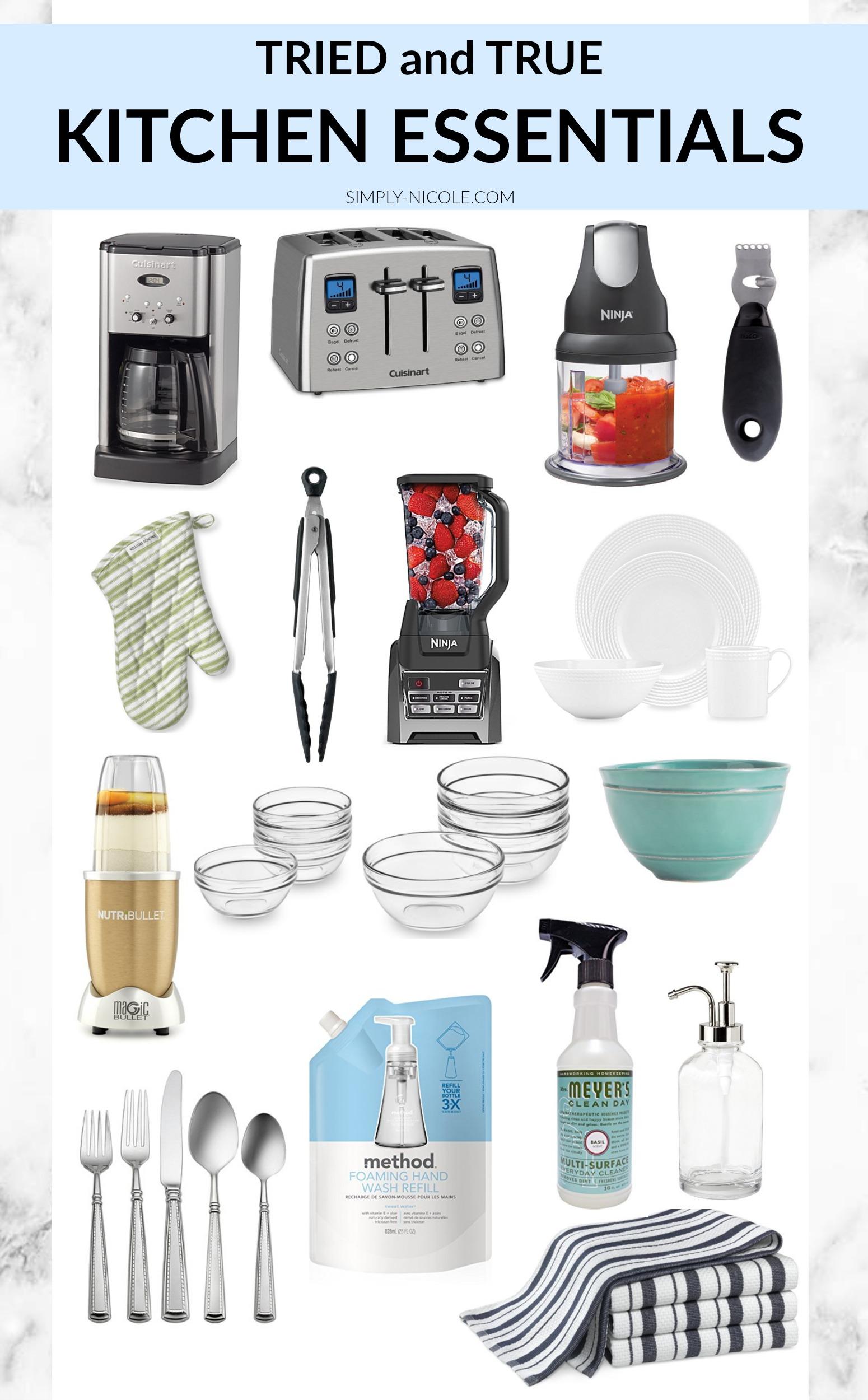 Tried and true kitchen essentials via simply-nicole.com