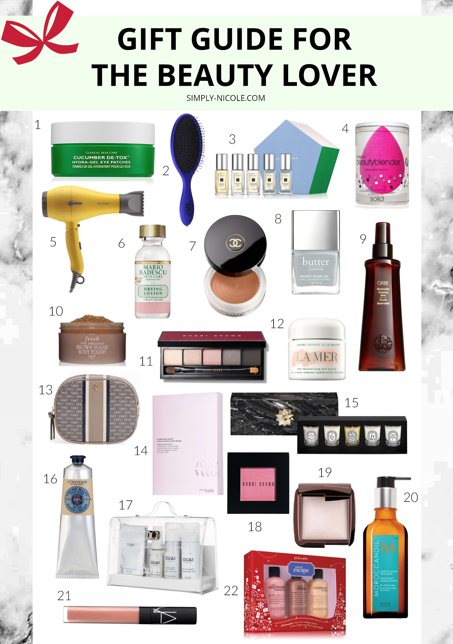 gift guide for the beauty lover via simply-nicole.com