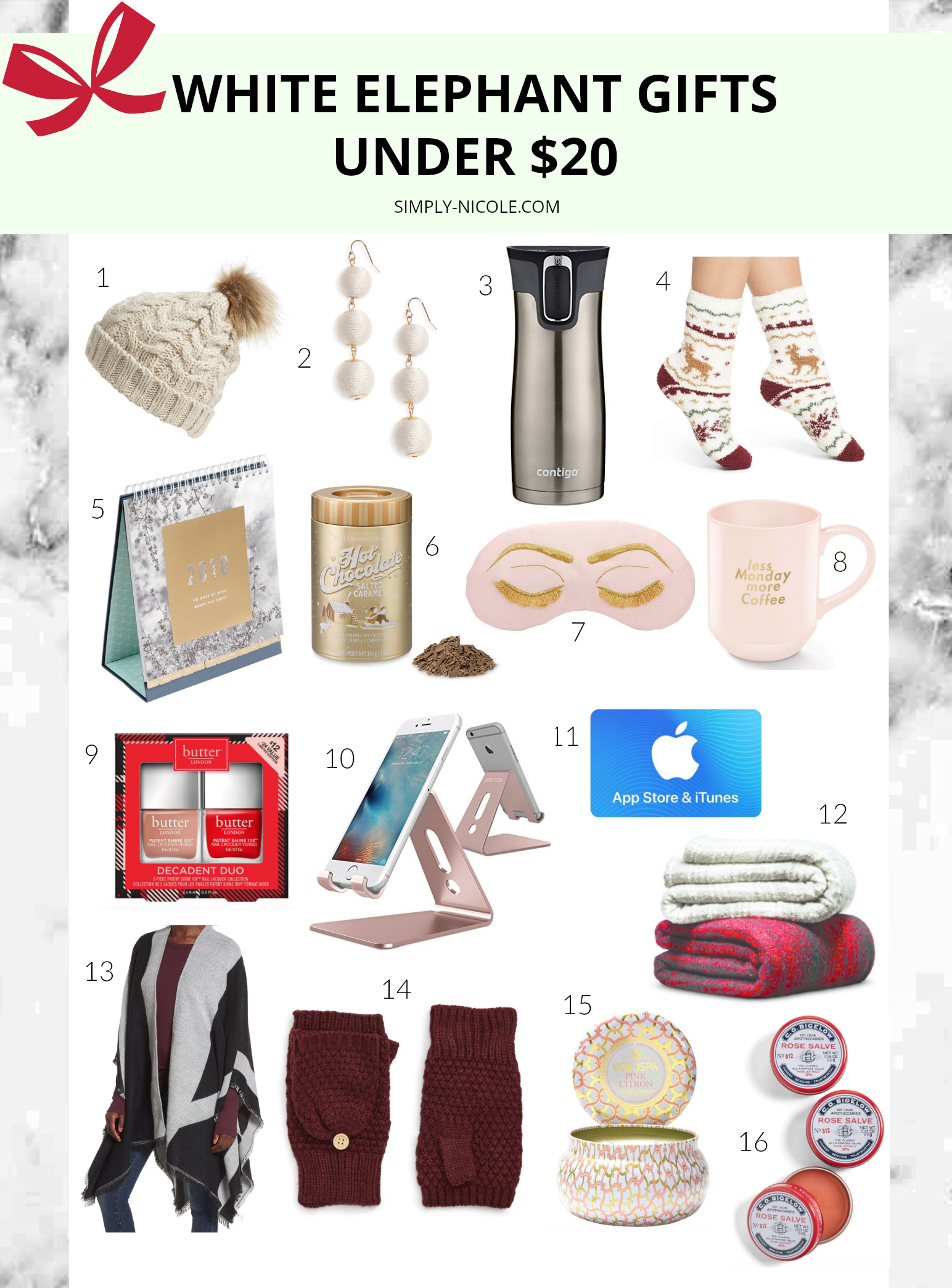 White Elephant Gifts Under $20